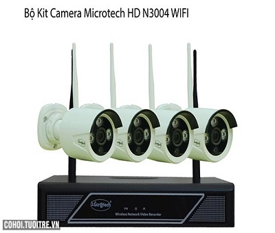 Bộ Camera Kit 4 Kênh Wifi IP Microtech HD-N3004